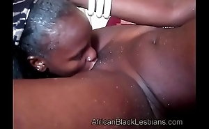 Naughty African lezzie fucks a horny big booty sista in homemadebathroom-2