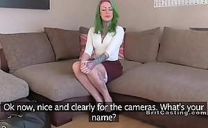 Still wet behind the ears colored hair amateur banged in sling