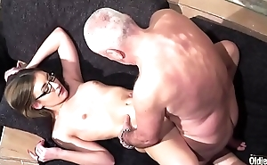 Age-old and Young Porn - Grandpa Fucks Teen Pussy fingers her twat and cumshot