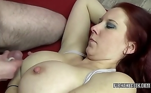 Redhead MILF Lia Shayde takes all get under one's jizz in her mouth