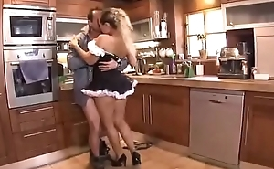 Take charge Maid Mia Leone Ass Fucked On The Kitchen Table
