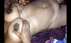 Horny Desi beamy boobs wife give handjob  n hard nip press