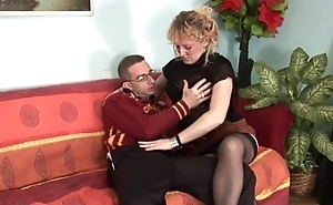 His hot and naughty dam teaches him how to fuck