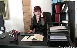 Mature office bitch pleases two cocks in request