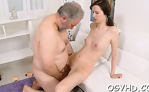 Young gal gives a explode with reference to old cock