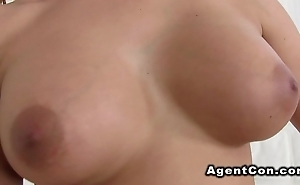 Busty amateur babe likes agents Hawkshaw after casting