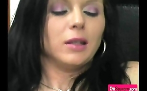 Ambrosial brunette sweet tight pussy stuffing with weird kitchen tools3