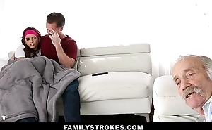 FamilyStrokes - Teen Fucks Brother Just about Sleety By Dad