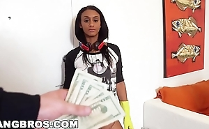 BANGBROS - Sexy black maid ended up cleaning my dick! (mda13645)
