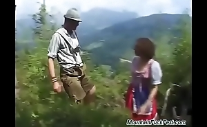 rough mountain DP with german teen