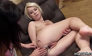 Idle away czech girl opens up her soft slit to the bizarre