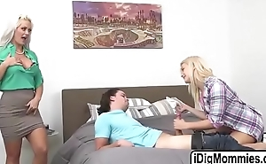 Teen Aubrey fucked by bf and stepmom