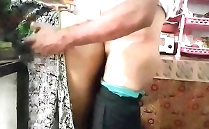 Desi couple real fucking in kitchen room with obtrusive moaning 720p