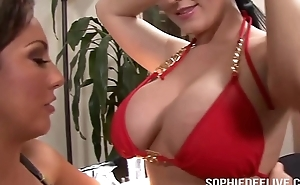 Toys and Tongues to Make Sophie Dee Cum
