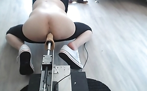 Facefucked and anal pounded by machine and extreme huge toys