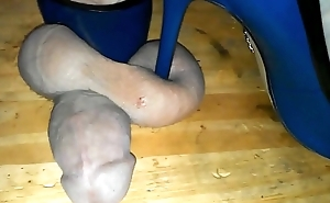 brutal cock and ball trample in heels on a cockboard