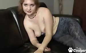 Chubby Amateur In the air Saggy Tits Fingers Herself