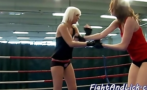 Fighting beauties love fingering and queening