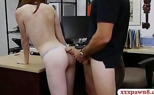 Hot girl with glasses rammed by pawn guy