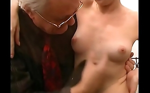 Old pig influence a rear a mature blonde who'_s about to get fucked