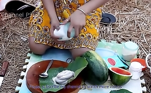 Woow!! Beautiful girls cooking Water Snake with watermelon HD