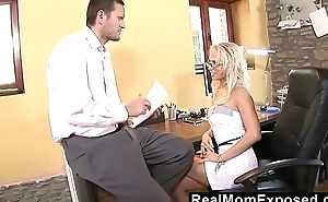RealMomExposed - Milf neglects her job but certainly not get under one's boss'_s flannel