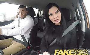 Show Driving School lucky young lad seduced by his busty milf examiner