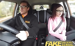 Fake Driving School 19yr old petite American pupil creampie lesson